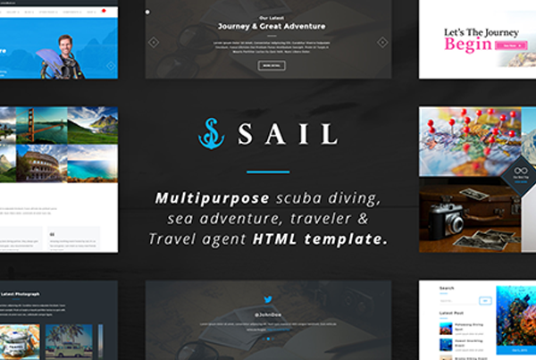 Sail – Multi-Purpose Scuba Diving HTML Template