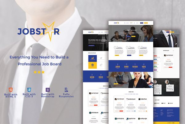 Jobstar – Job Board & Job Listing HTML Template